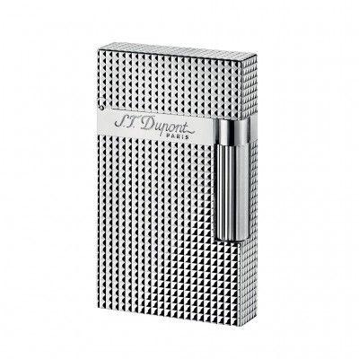 ST Dupont » Accendino Linea 2 Argento punta diamante