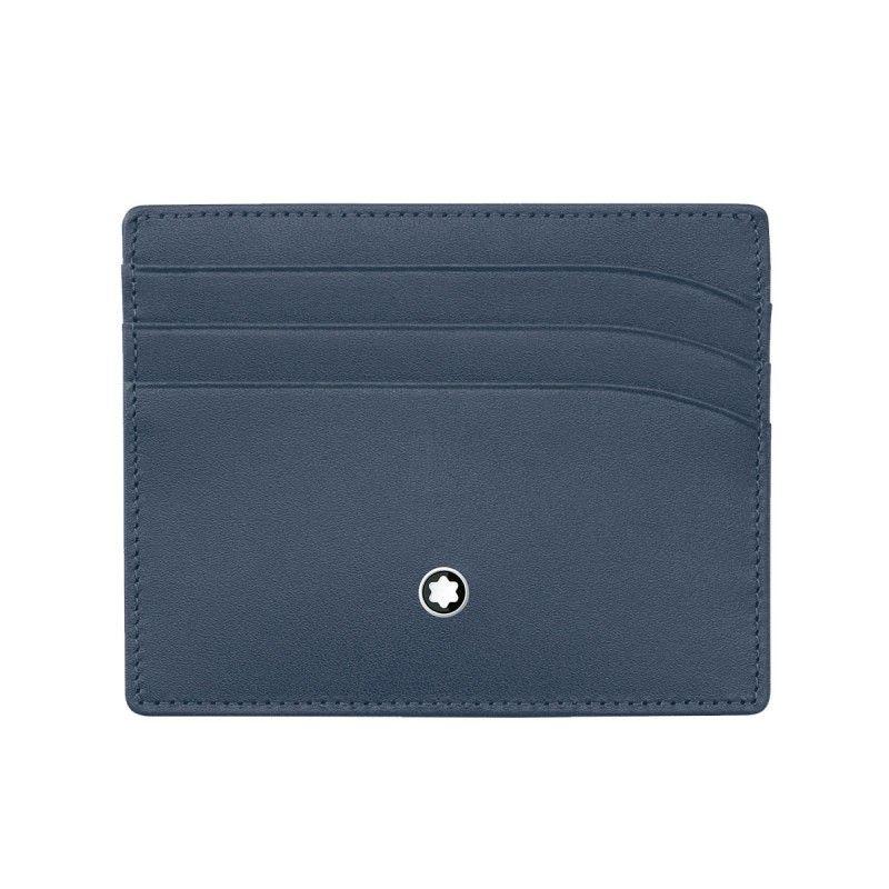 Montblanc » Porta carte di credito 6 scomparti Navy