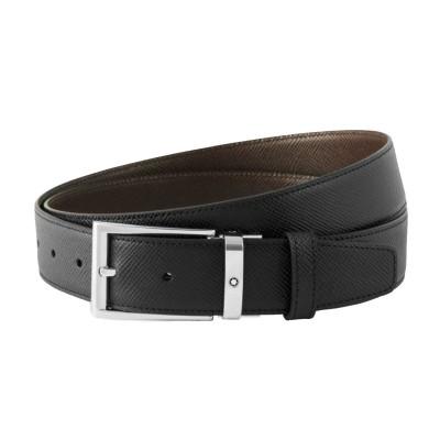 Montblanc » Cintura Reversibile in Pelle Bovine Leather nera/marrone 35 mm