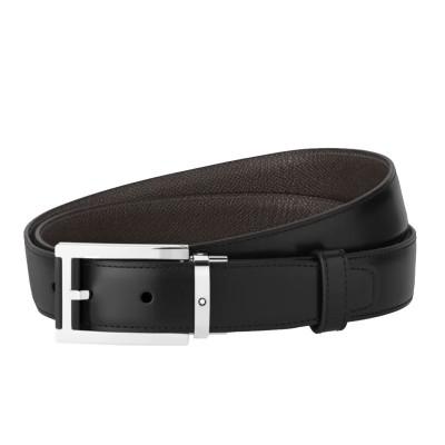 Montblanc » Cintura Reversibile in Pelle nera/marrone 30 mm