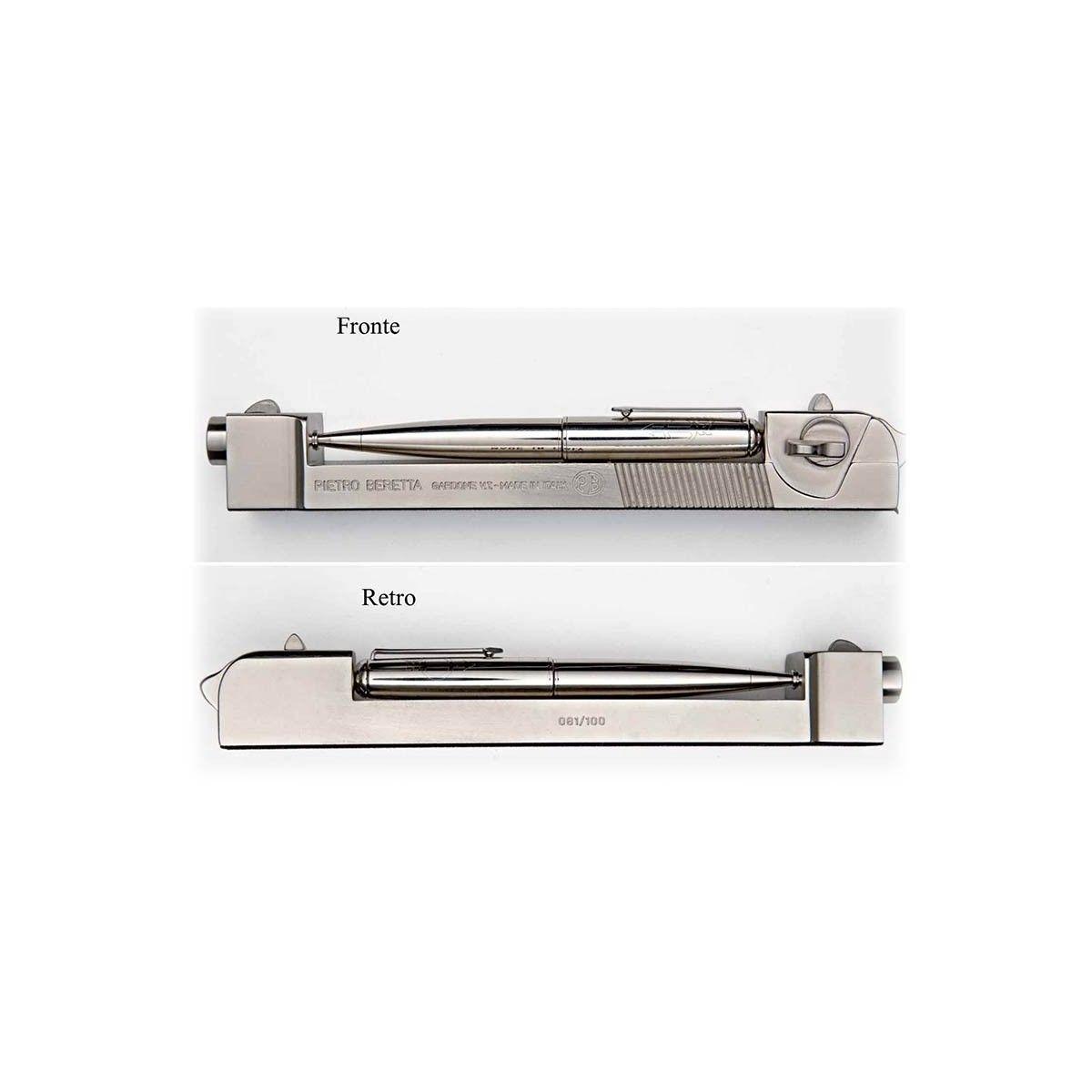 Penna pistola Beretta 92 realizzata da Maurizio Abrami per Beretta