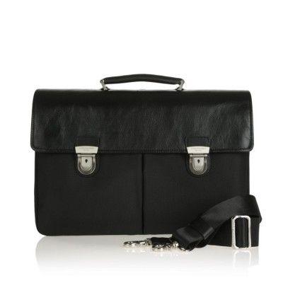 Spalding & Bros. Cartella ballistic leather